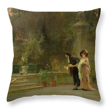 Married For Love Throw Pillow by Marcus Stone