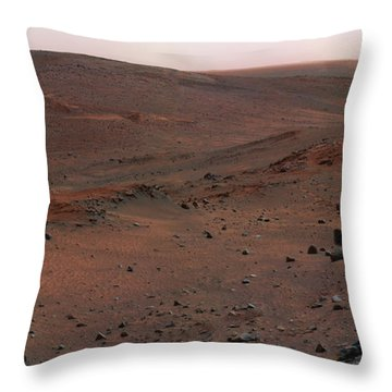 Mars Exploration Rover Spirit Throw Pillow by Stocktrek Images