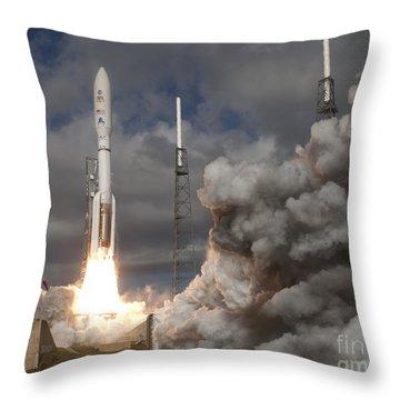 Mars Science Laboratory Rover Curiosity Throw Pillow by NASA Scott Andrews Canon