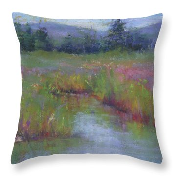 Marsh Colors Throw Pillow by Susan Williamson