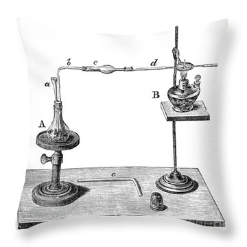 Marsh Test Apparatus, 1867 Throw Pillow by Science Source