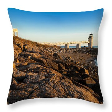 Marshall Point Lighthouse Throw Pillow by Brian Jannsen