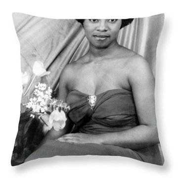 Martha Flowers (c1920- ) Throw Pillow by Granger