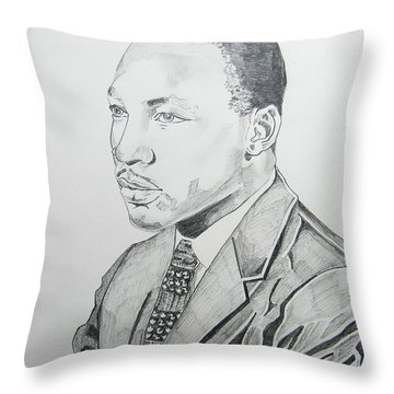 Martin Luther King Jr. Throw Pillow by John Keaton