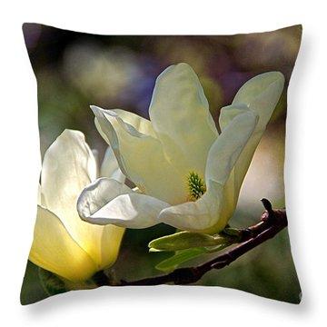 Marvelous Magnolia Throw Pillow by Byron Varvarigos