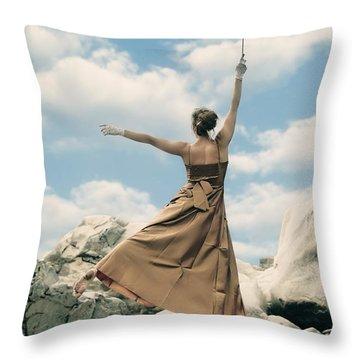 Mary Poppins Throw Pillow by Joana Kruse