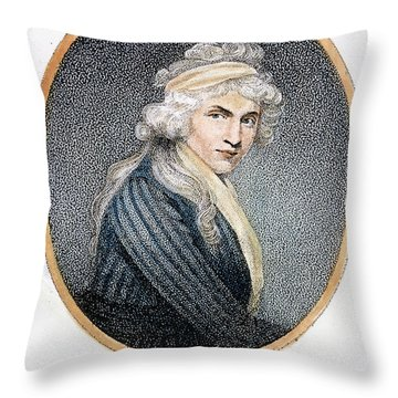 Mary W. Godwin (1759-1797) Throw Pillow by Granger