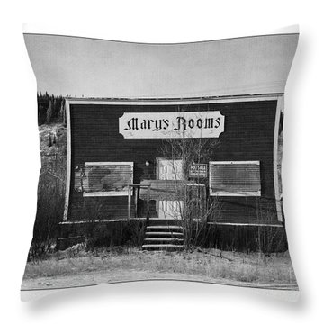 Mary's Rooms Throw Pillow
