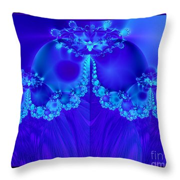 Marys Veil Fractal 60 Throw Pillow by Rose Santuci-Sofranko
