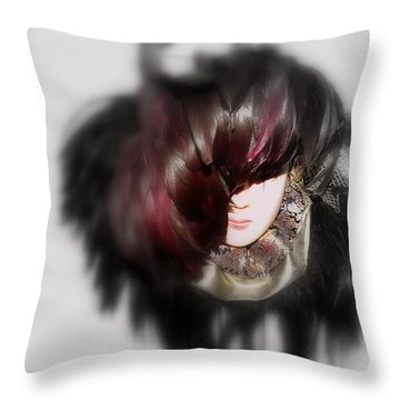 Mask Throw Pillow by Mistys DesertSerenity