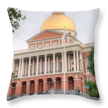 Massachusetts State House I Throw Pillow by Clarence Holmes