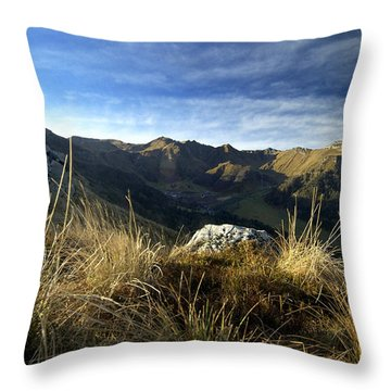 Massif Of Sancy In Auvergne. France Throw Pillow by Bernard Jaubert