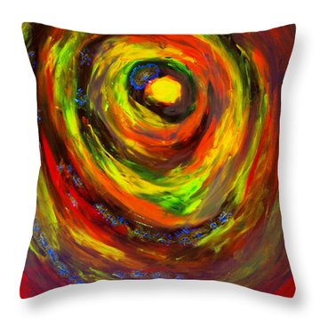 Throw Pillow featuring the painting Mastemorphosis by Lisa Brandel