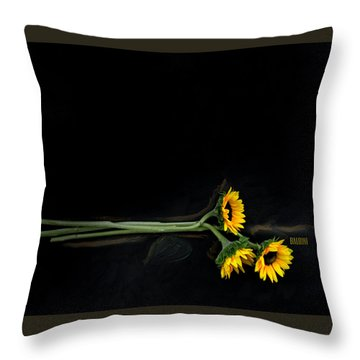Master Sunflowers Throw Pillow by J R Baldini M Photog