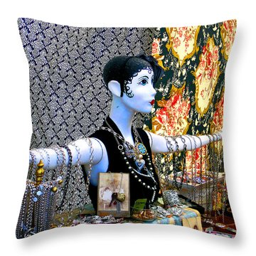 Material Girl Throw Pillow by Michael Durst