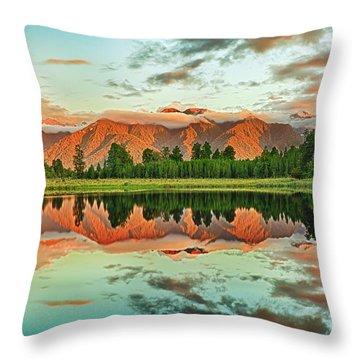 Matheson Lake Throw Pillow by MotHaiBaPhoto Prints