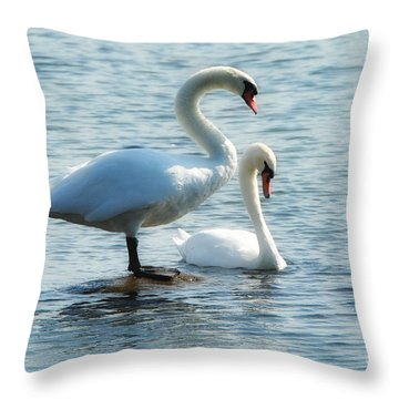 Mating Pair Throw Pillow