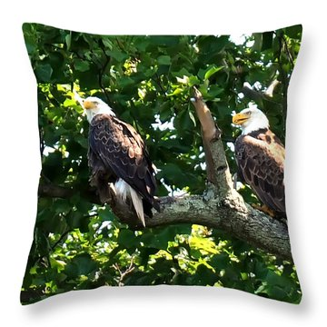 Throw Pillow featuring the photograph Mating Pair by Randall Branham