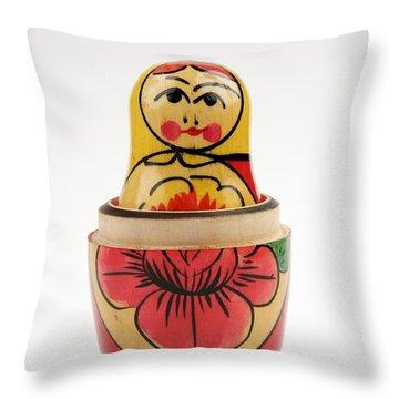 Matryoska Throw Pillow by Bernard Jaubert