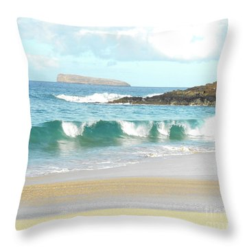 Maui Hawaii Beach Throw Pillow