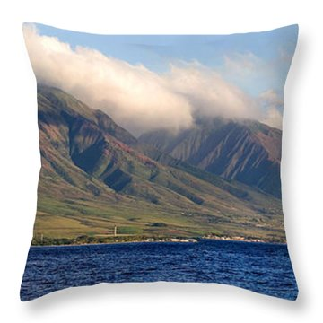 Maui Pano Throw Pillow by Scott Pellegrin