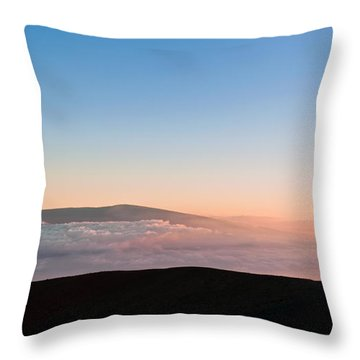 Mauna Loa Sunset Throw Pillow
