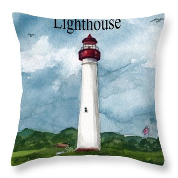 May The Magnificent Lighthouse  Throw Pillow by Nancy Patterson