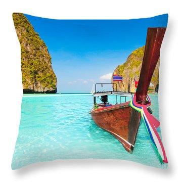 Maya Bay Throw Pillow