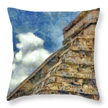 Mayan Mysteries Throw Pillow by Jeff Kolker