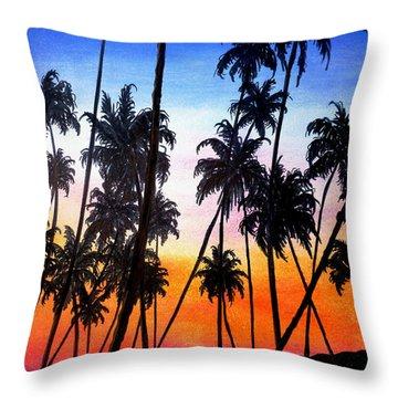 Mayaro Red Dawn Throw Pillow by Karin  Dawn Kelshall- Best