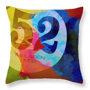 Mclaren Watercolor Throw Pillow by Naxart Studio