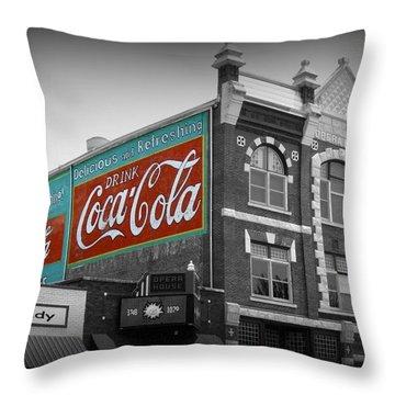 Mcpherson Kansas Opera House Throw Pillow