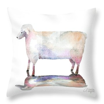 Me And My Colorful Shadow Throw Pillow by Arline Wagner