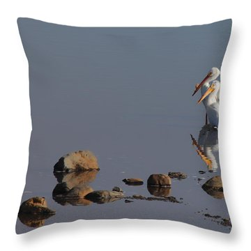 Me And My Gal Throw Pillow by Donna Blackhall