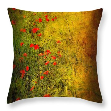 Meadow Throw Pillow by Svetlana Sewell