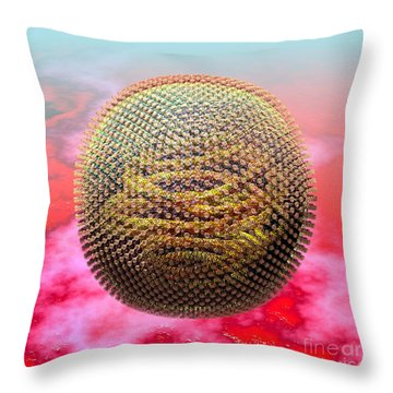 Measles Virus Throw Pillow by Russell Kightley