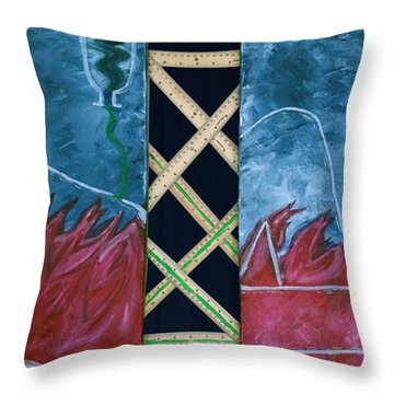 Throw Pillow featuring the mixed media Measure Of A Man by Lisa Brandel