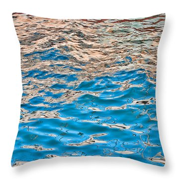 Throw Pillow featuring the photograph Meboid Reflection by Britt Runyon