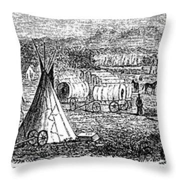 Medicine Lodge Creek, 1867 Throw Pillow by Granger