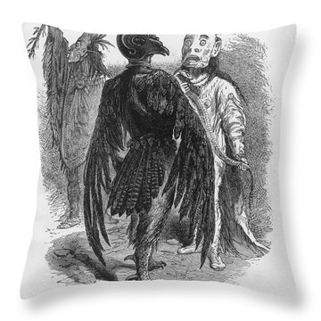 Medicine Men Throw Pillow by Science Source