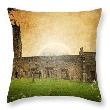 Medieval Church Throw Pillow by Svetlana Sewell