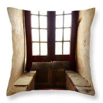 Medieval Window Throw Pillow by Carlos Caetano