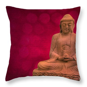 Meditation Throw Pillow by Hannes Cmarits