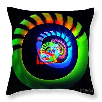 Meditation Throw Pillow by Klara Acel