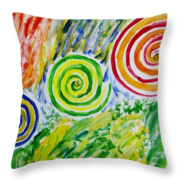 Throw Pillow featuring the painting Meditation by Sonali Gangane