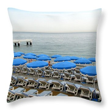 Mediterranean Blue Throw Pillow by Carla Parris