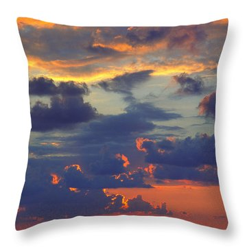 Mediterranean Sky Throw Pillow