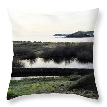 Throw Pillow featuring the photograph Mediterranean View by Pedro Cardona