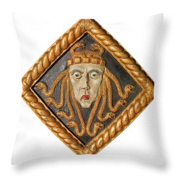 Medusa Throw Pillow by Photo Researchers