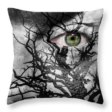Medusa Tree Throw Pillow by Semmick Photo